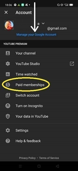 How to deactivate YouTube Premium Free Trial