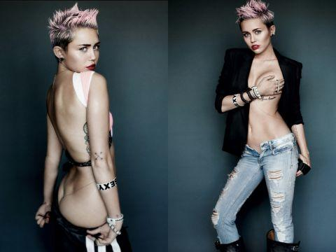 miley cyrus topless pics
