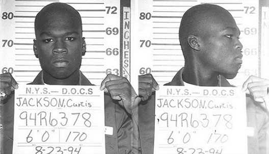 In 1994 50 Cent was arrested for shooting a group of thugs.