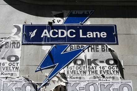 AC Dc have a lane named after them in Melbourne, Australia