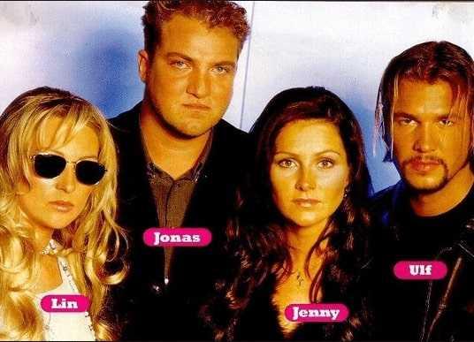 """Ulf Ekberg and three siblings Malin """"Linn"""" Berggren, Jonas Berggren and Jenny Berggren make Ace of Base."""