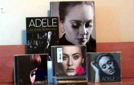 Adele loves the retro CD and cassette collection.