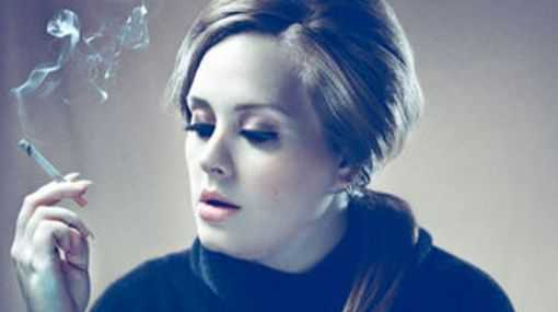 Adele has quit drinking but addicted to smoking.
