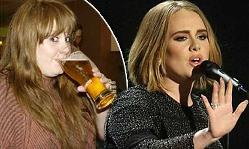Adele once was a heavy drinker but has been sober for years now.