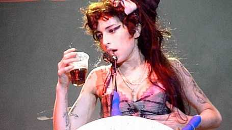 Amywine was booed off stage because she was too drunk to perform.