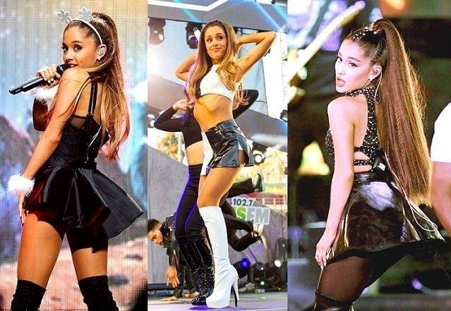 Miniskirts Ariana Grande live performance