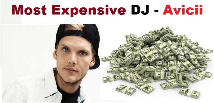 Avicii was ranked as the most expensive DJ