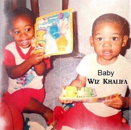 A very young Wiz Khalifa
