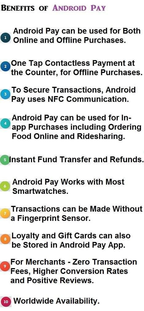 Advantages of Android Pay