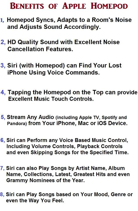 Advantages of Apple Homepod