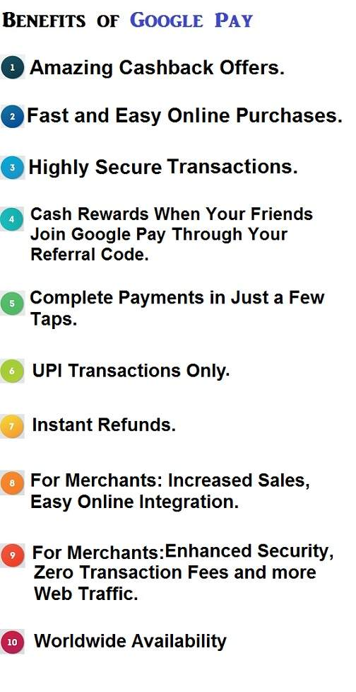 Advantages of Google Pay