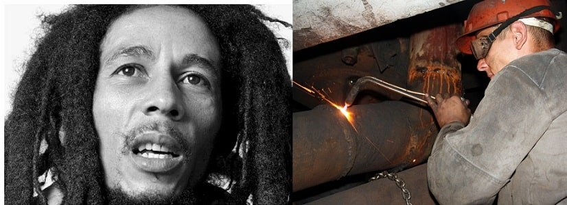 Bob Marley was almost blinded by a welding accident