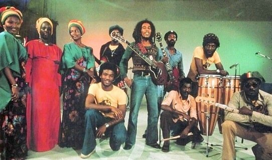 Bob Marley with the Wailers
