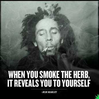 Bob Marley attained nirvana using ganja,cocaine and marijuana.