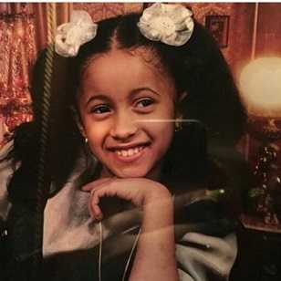 Childhood pics of Cardi B
