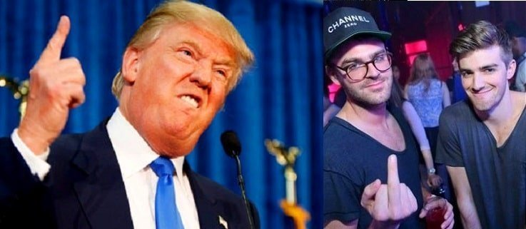 Chainsmokers urged voters to vote against Donald Trump in 2016 elections