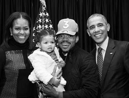 An unknown Chance the Rapper met Barack Obama through his father.