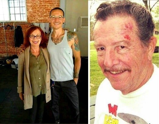 Chester Bennington with his parents