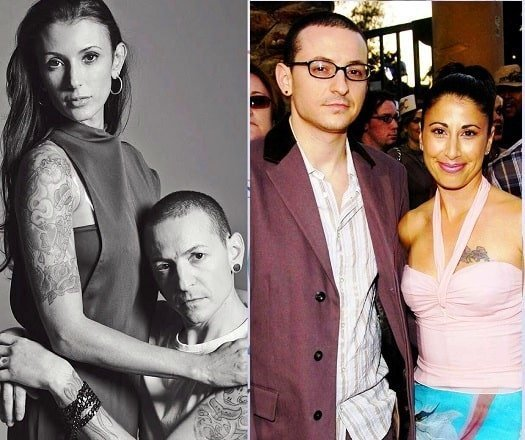 Chester Bennington with Samantha and Talinda
