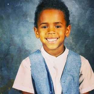 Chris Brown in his school days