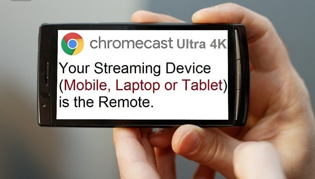 There is no remote for Chromecast Ultra 4K