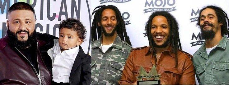 DJ Khaled with Bob Marleys family