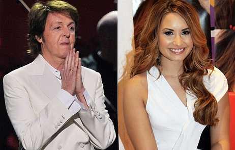 Demi Lovato almost hits Paul Mccartney at VMA 2013