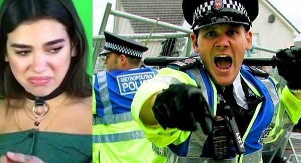 A 15 year old Dua Lipa assaulted a police officer