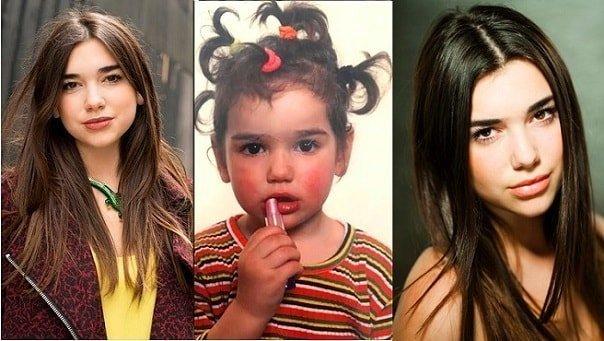Dua Lipa childhood pics