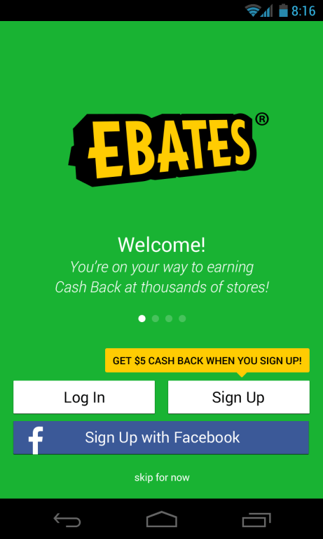 Ebates app from ebay, make money online