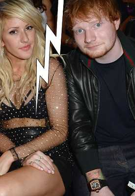 Ellie Goulding broke up with Ed Sheeran after dating for a few months.