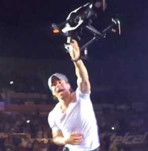 Enrique Iglesias suffered from a gory drone accident, worse than a horror movie, real blood!