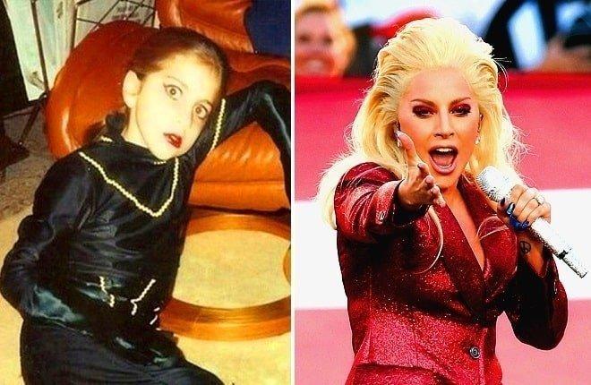 Teenage Lady Gaga and now