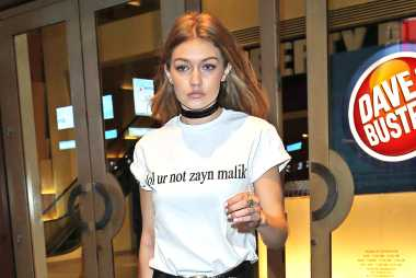 Gigi Hadid loves to wear Zayn Malik merchandise