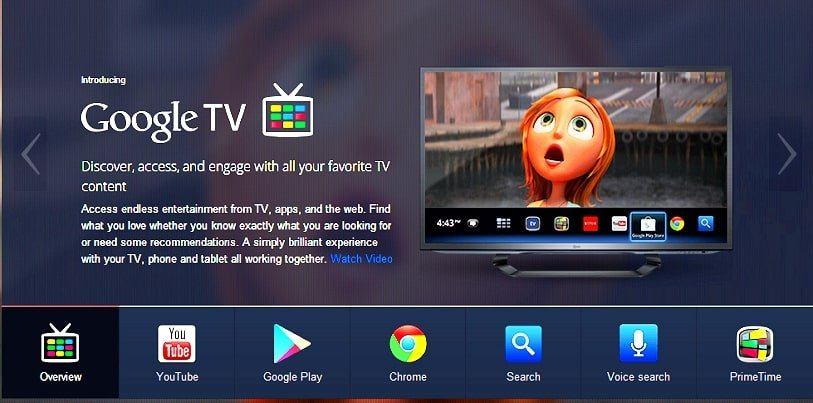Download GoogleTV app from Playstore and use it as your interface