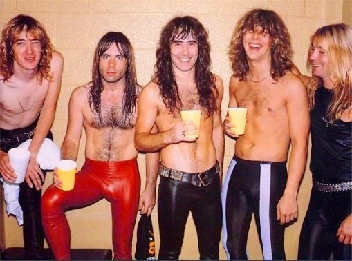 Hot body of Iron Maiden members 80s pic