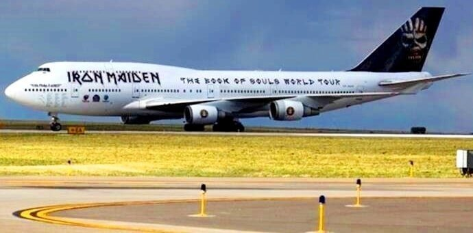 Iron Maiden owns a boeing 777 used exclusively for worldwide touring