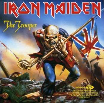 Scary Iron Maiden album cover.