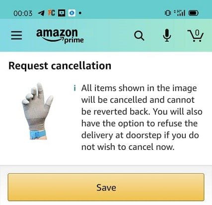 How to cancel a shipped Amazon order