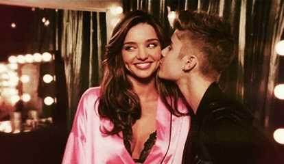 Justin Bieber flirted with Miranda Kerr for a long time.