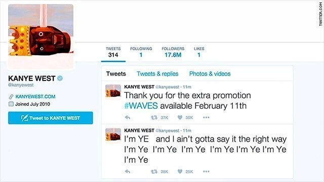 Drunk Kanye West used to rant endlessly on twitter