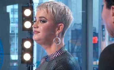 Katy Perry makes frog face in American Idol