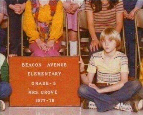 Kurt Cobain school pics