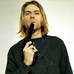 Kurt Cobain shot himself on the face