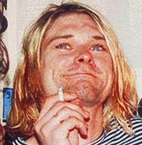 Kurt Cobain high on drugs