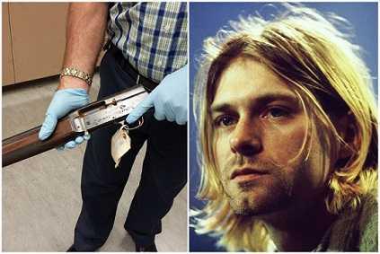 Kurt Cobain blew his face with a shotgun