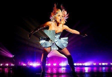 Lady Gaga in mini skirts  live performance