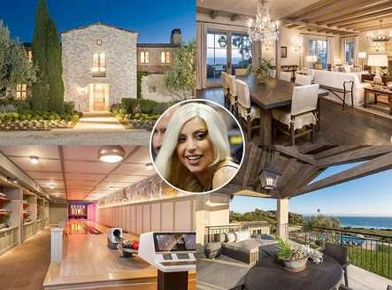 $23 million Lady Gagas malibu home even has a bat cave.