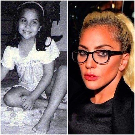 Lady Gaga in 1995 and now
