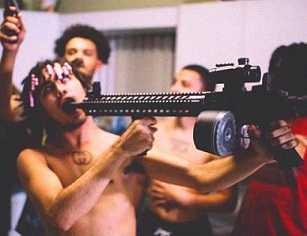 Lil Pump imitated Kurt Cobain firing a gun into his mouth